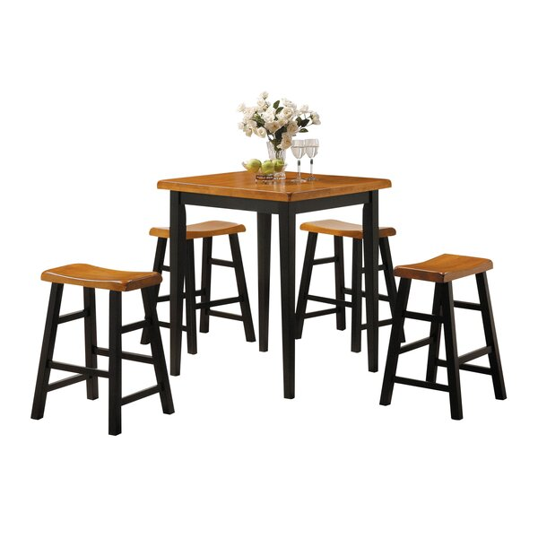 Husted 5 Piece Counter Height Dining Set by Winston Porter