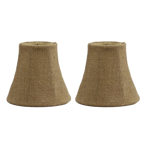 5 Burlap Bell Clip-on Candelabra Shade (Set of 2) by Bay Isle Home