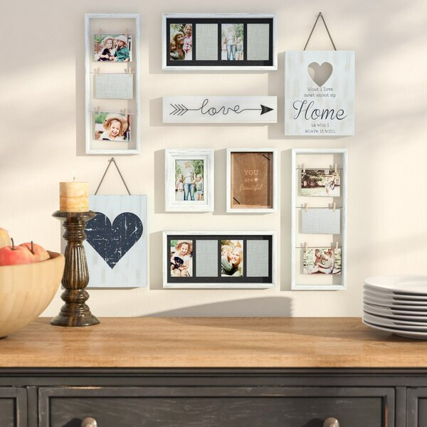 Broderick 9 Piece Heart Decor Picture Frame Set by Darby Home Co