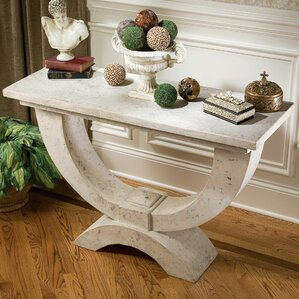 The Moderno Arch of Stone Console Table by D..