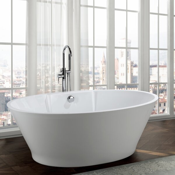 Lecce 67 x 38 Freestanding Soaking Bathtub by Bellaterra Home