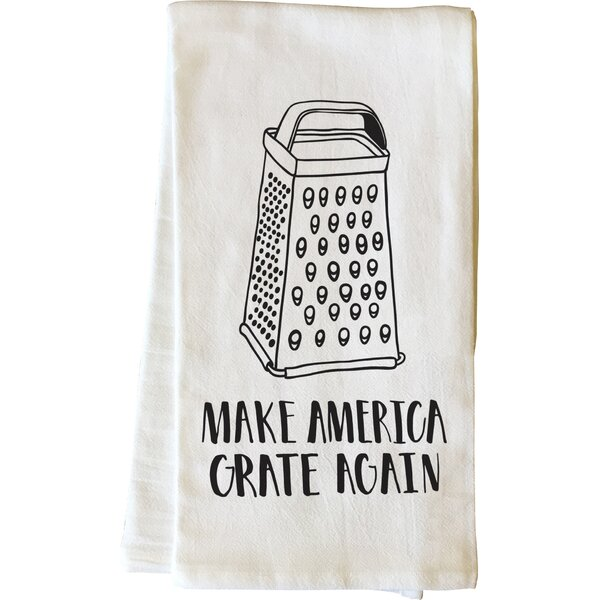 Make America Grate Again Black Tea Towel by One Bella Casa