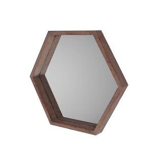 Gracie Oaks Myatt Hexagon Wall Mirror