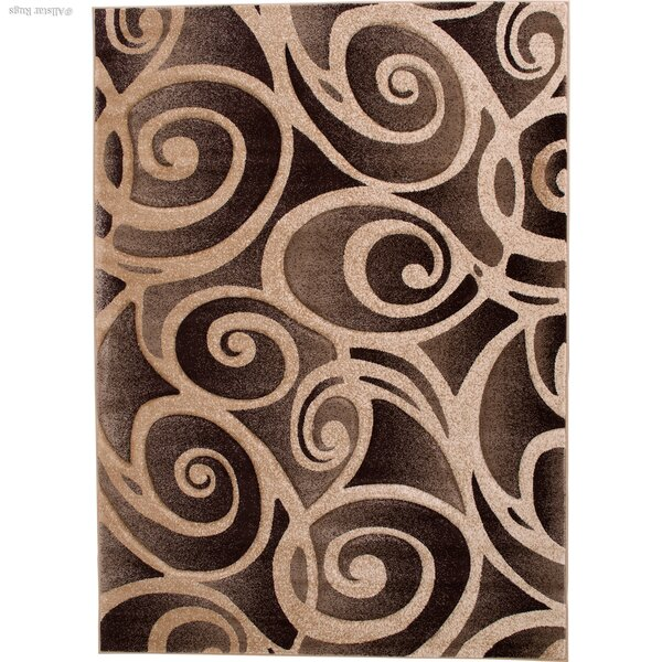Evolution Swirl Champagne Area Rug by AllStar Rugs