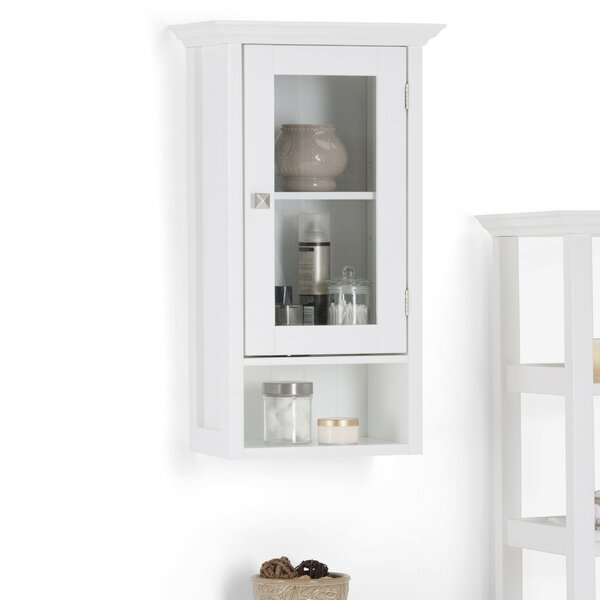 Acadian Single Door 15.75 W x 27.96 H Wall Mounted Cabinet by Simpli Home