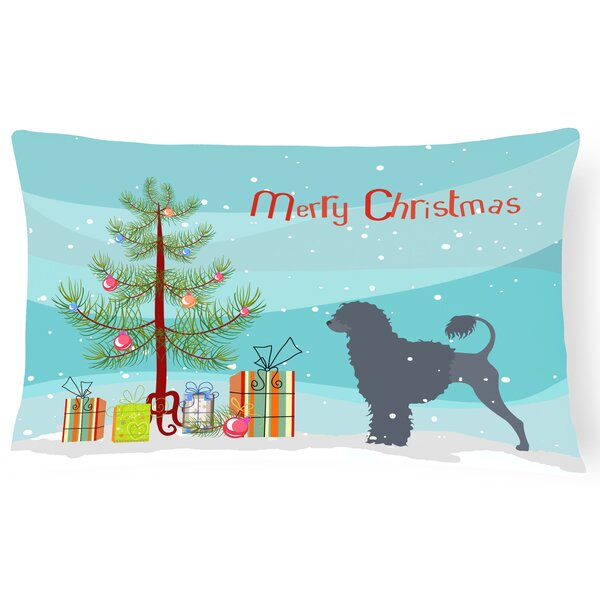 Portuguese Water Dog Indoor/Outdoor Lumbar Pillow by The Holiday Aisle