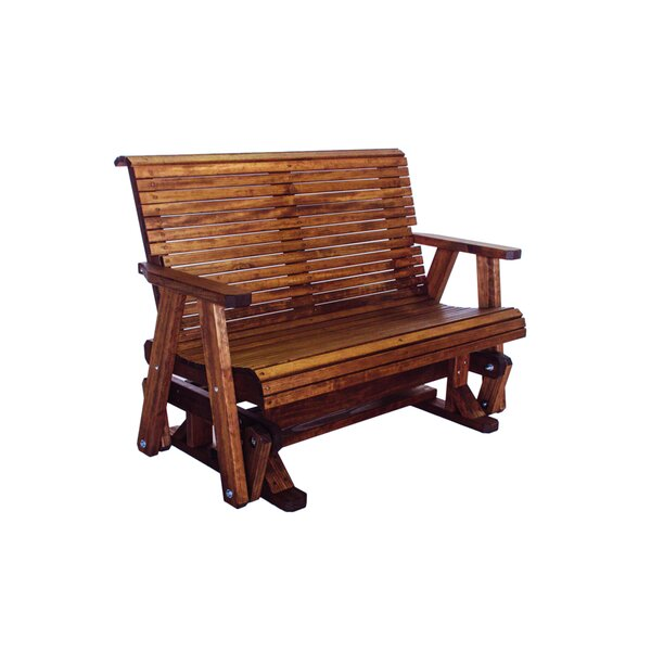 Poulos Low Back Glider Bench by Loon Peak