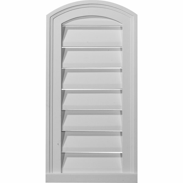 16H x 12W Eyebrow Gable Vent Louver by Ekena Millwork