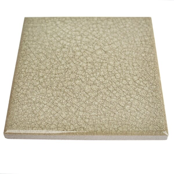 Roman Selection 4 x 4 Glass Field Tile in Iced Tan by Splashback Tile