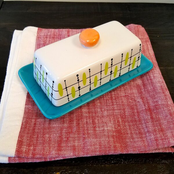 Book Butter Dish with Lid by Ebern Designs