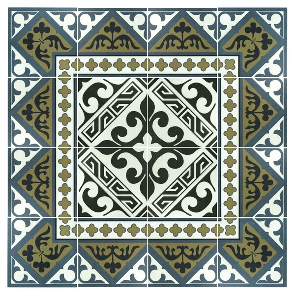 Seni Versalles 9.75 x 9.75 Porcelain Field Tile in Black by EliteTile