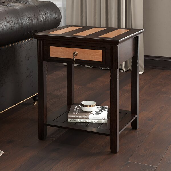 Pillar End Table by Charlton Home