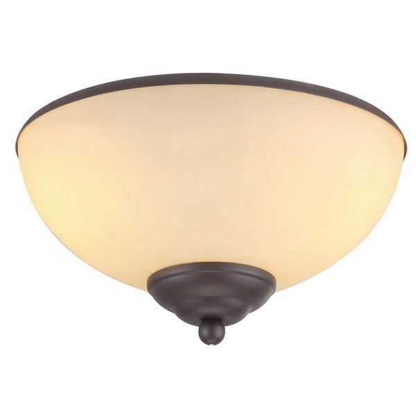 2-Light Bowl Ceiling Fan Light Kit by Winston Porter