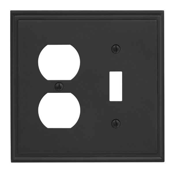 Mulholland Toggle 2 Plug Wallplate by Amerock