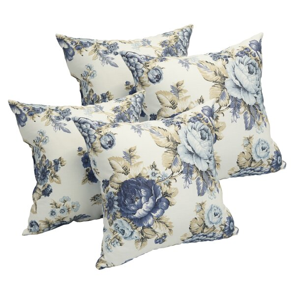 Art Rose Throw Pillow (Set of 4) by Canora Grey