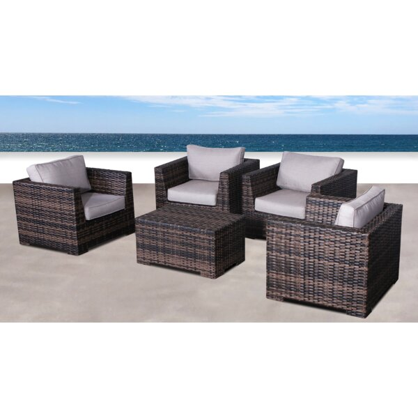 Letona Resort 5 Piece Conversation Set With Cushions By Sol 72 Outdoor