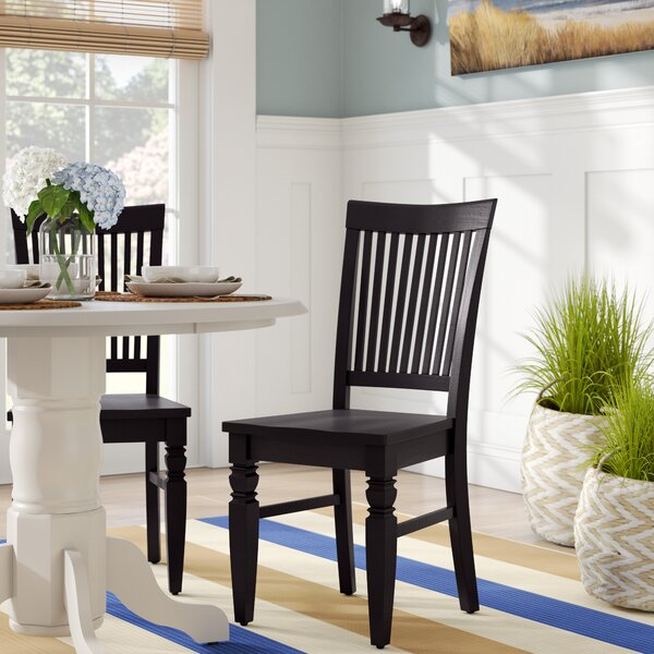 Pennington Solid Wood Dining Chair (Set of 2) by Beachcrest Home