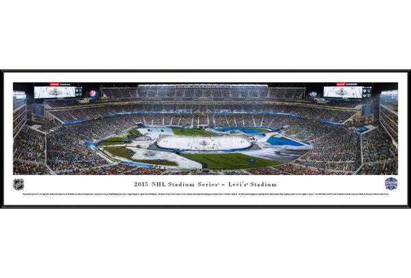 NHL 2015 Stadium Series by Christopher Gjevre Framed Photographic Print by Blakeway Worldwide Panoramas, Inc