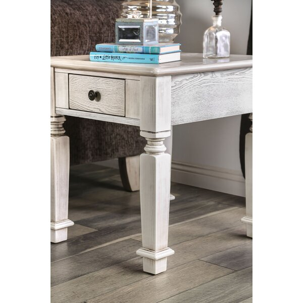 Cotton End Table by Rosecliff Heights