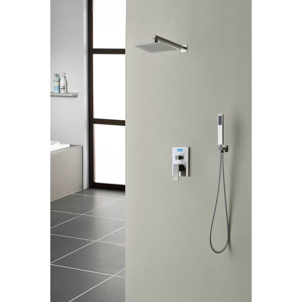 Sumerain Digital Temperature Display Thermal Sequence ThermostaticLever Shower Faucet | Wayfair