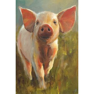 'Morning Pig' Print on Canvas by East Urban Home
