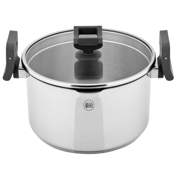 Lift and Pour Stock Pot with Lid by Koch Systeme by Carl Schmidt Sohn