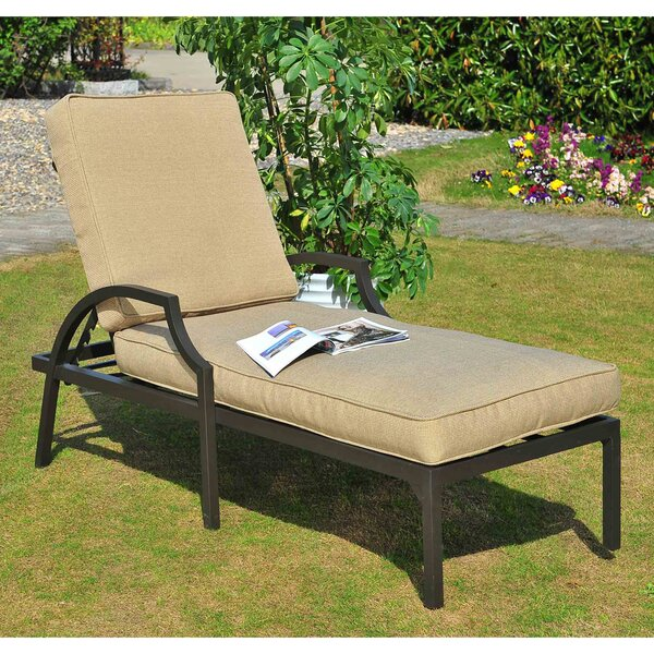 Ellett Chaise Lounge with Cushion by Red Barrel Studio