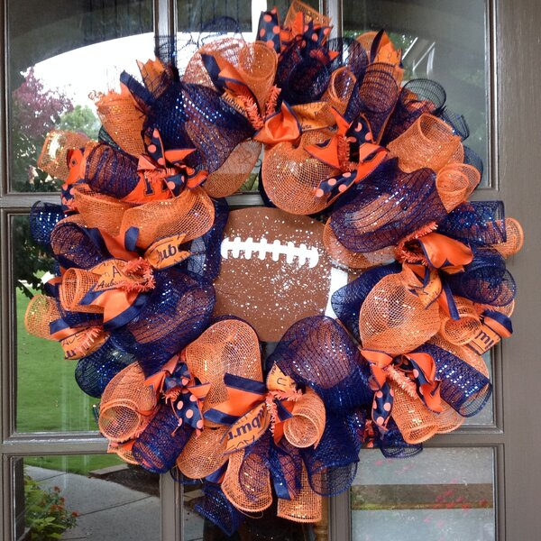 Auburn Tigers Collegiate 26 Wreath by Flora Decor