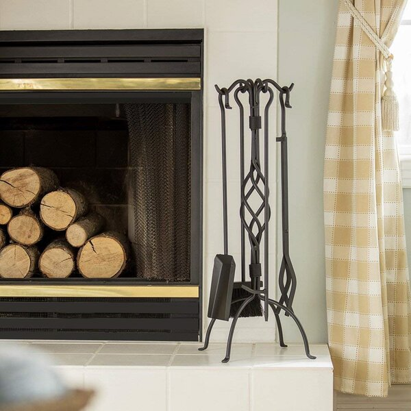 5-Piece Wrought Iron Fireplace Tool Set By Uniflame