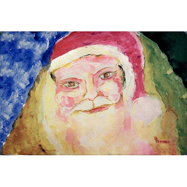 Santa Face Placemat (Set of 4) by Betsy Drake Interiors