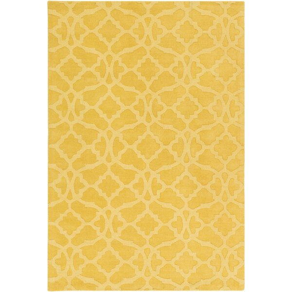 Dylan Hand-Woven Yellow Area Rug by Charlton Home
