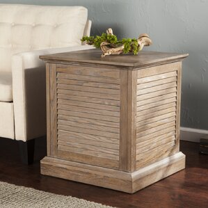 Adreanna Louvered Trunk End Table by Beachcrest Home