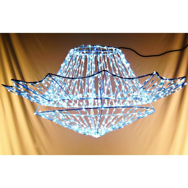 800 Light LED Chandelier by Queens of Christmas