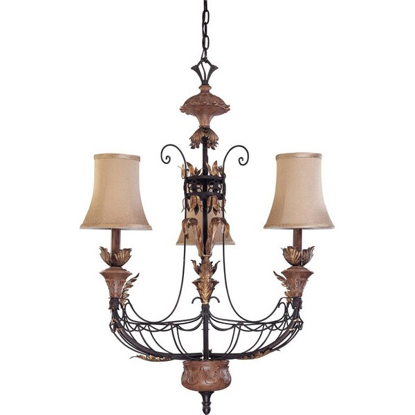 Boettcher 3 - Light Shaded Empire Chandelier By Astoria Grand