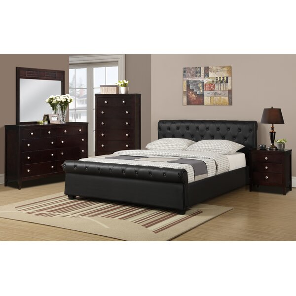 Hoschton Upholstered Platform Bed by Charlton Home