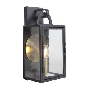 Online Reviews Wymer Outdoor Wall Lantern By Breakwater Bay