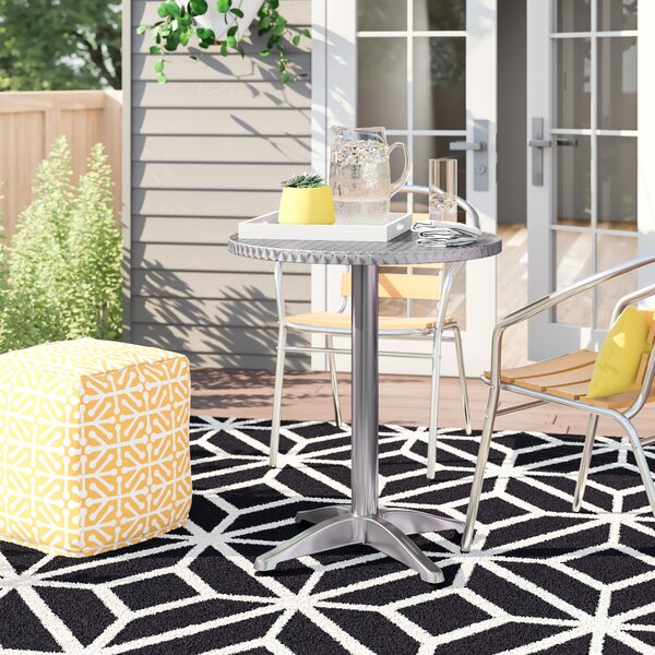 Joni Stainless Steel Bistro Table by Zipcode Design