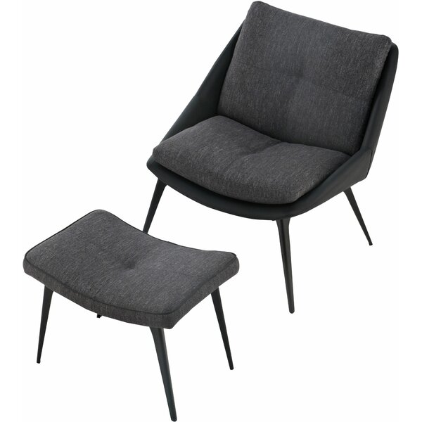 Columbus Lounge Chair by Modloft Black