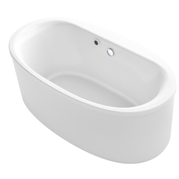 Sunstruck® 66 x 36 Oval Freestanding BubbleMassage™ Air Bathtub by Kohler