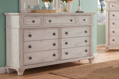 Dorinda Vintage Style 9 Drawer Double Dresser By One Allium Way by One Allium Way