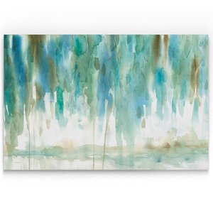 'Rainwashed Landscape' Oil Painting Print on Wrapped Canvas by Ivy Bronx