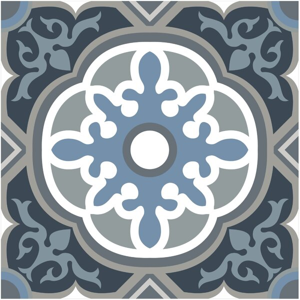 Gallery 7.75 x 7.75 Ceramic Field Tile in Granada Blue by Mulia Tile