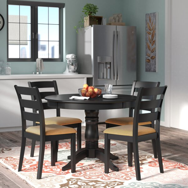 Oneill 5 Piece Ladder Back Dining Set by Andover Mills
