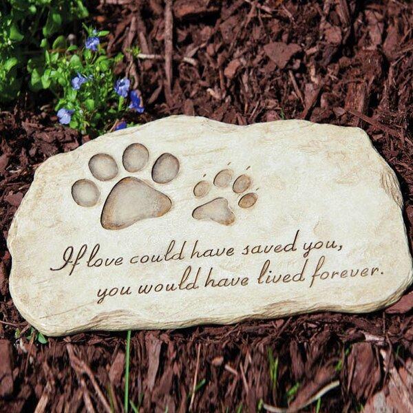 Pet Devotion Garden Stepping Stone by Evergreen Flag & Garden