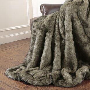 Tawny Fox Faux Fur Throw Blanket