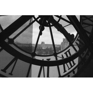 'Clock Tower in Paris' Photographic Print by Trent Austin Design