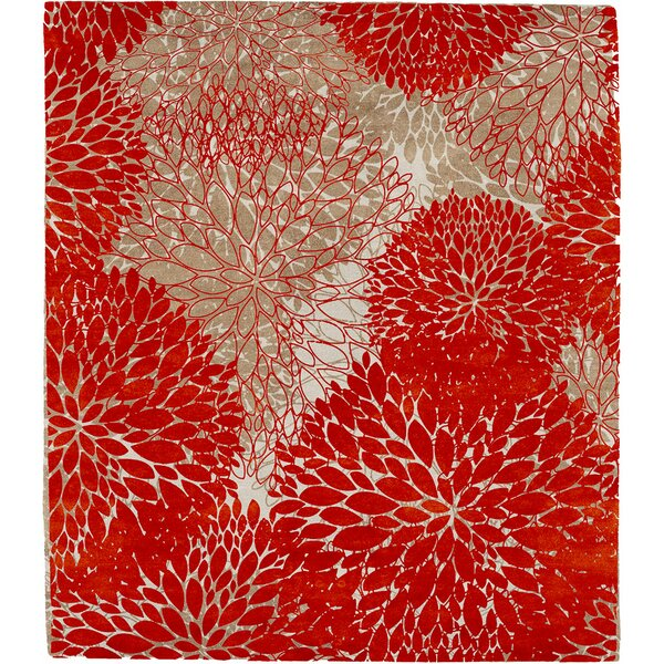 One-of-a-Kind Bluffton Hand-Knotted Red 9' x 12' Wool Area Rug