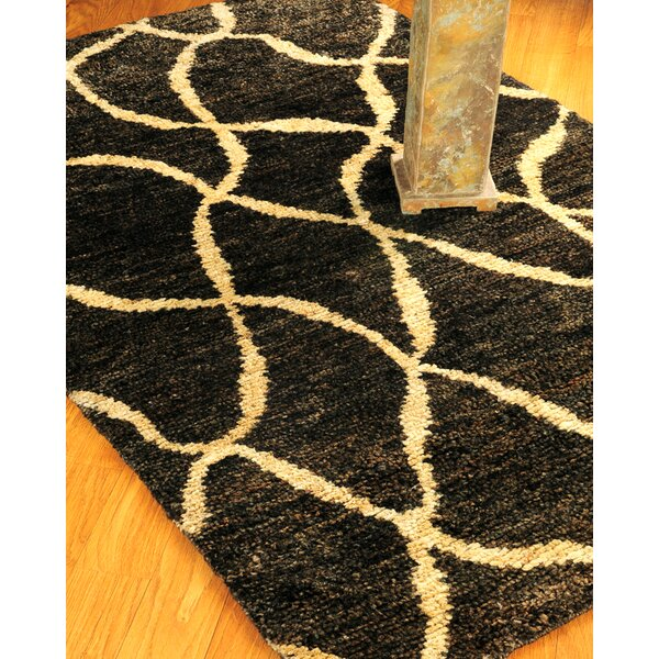 Hand-Woven Black/Gold Area Rug by The Conestoga Trading Co.