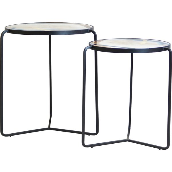 Elkhorn 2 Piece End Table Set By Everly Quinn