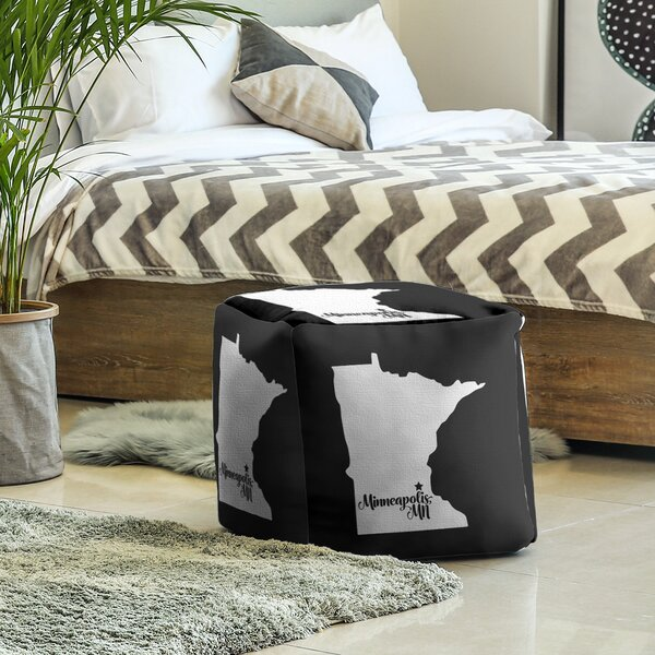 Minneapolis Minnesota Cube Ottoman By East Urban Home